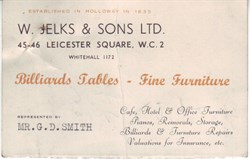Jelks Leicester Sqaure Business Card