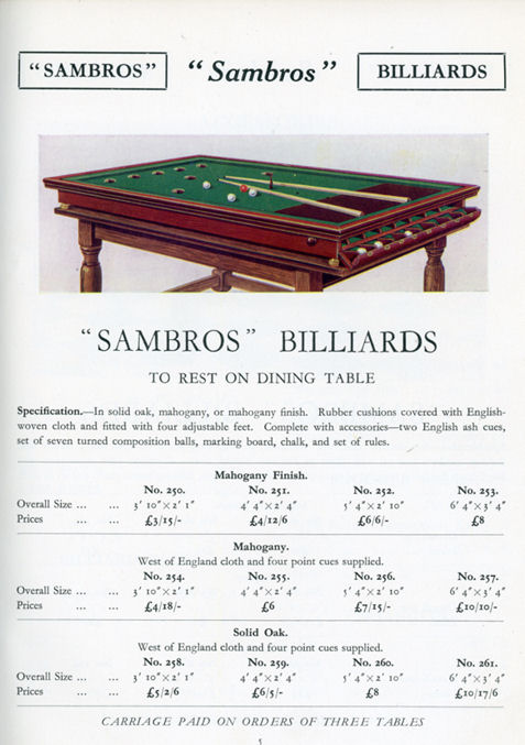 Billiard And Snooker Heritage Collection SamsBros - Pool table companies