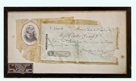 Charles Dickens Coutts Co. cheque