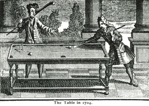 Early Billiard Table circa 1704