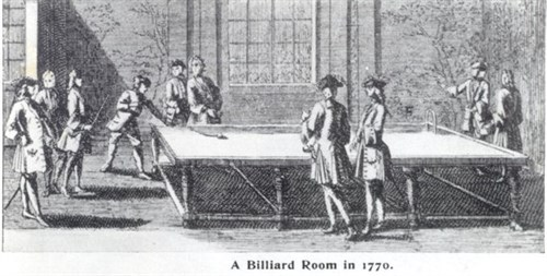Billiard Room circa 1770