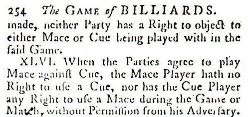 Early Billiard Rule XLVI