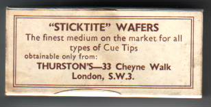 Thurston Billiard Cue Tip Wafers