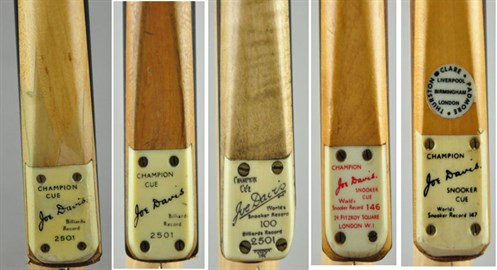 Joe Davis Billiard & Snooker Cues