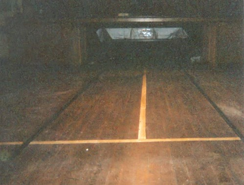 Snooker Table under stage